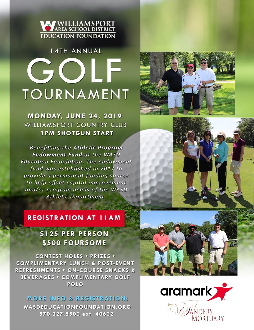 2019 Golf Tournament Flyer