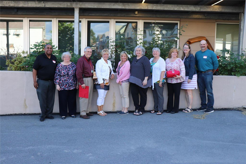 2018 retirees after reception.
